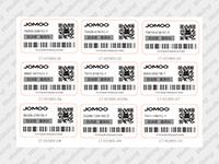 JOMOO带涂层万博网页手机防伪标签样标